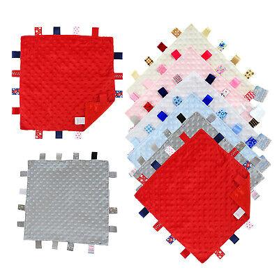 Baby Boys Girls Soft Touch Tag Comforter Blanket, Soft Velour & Satin BC15
