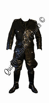 Pure Smooth Leather WWII German Tunic and Breeches - uniform - Colours Available