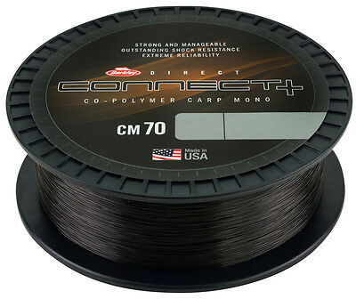 Berkley Connect CM70 CARP Co-Polymer Mono Line- 1000m Spool - All B/S - NEW 2017