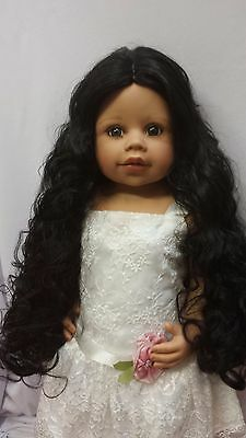 """NWT Monique Donna Black Doll Wig 16-17"""" fits Masterpiece Doll(WIG ONLY)"""