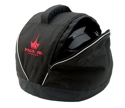 Motorcycle Helmet Bag Coleman Faux Leather Bottom Interior Fleece Carry Handle