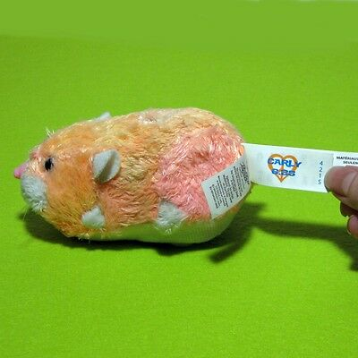 Zhu Zhu Pet Carly With Tag Tested And Working Pink Orange White Heart Hamster