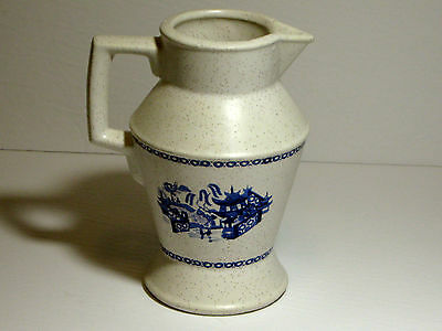 Vintage Pitcher USA With Blue Chinese Drawing - 24 - Country Style