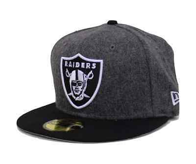 8f0a0ef50e0 NFL Oakland Raiders New Era 59Fifty Melton Wool Fitted Hat - Graphite Black