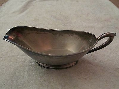 Vintage Silver Plate Gravy Boat
