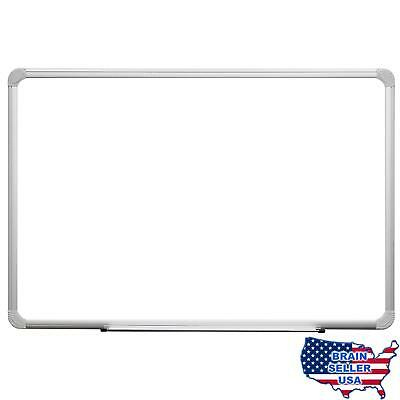 Superior Essentials 24x36 Melamine Dry Erase Board with Aluminum Frame and Marke