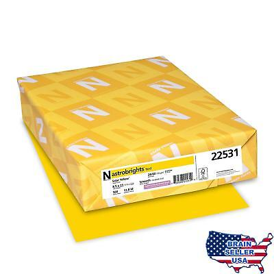 "Astrobrights Color Paper, 8.5"" x 11"", 24 lb / 89 gsm, Solar Yellow, 500 Sheets"
