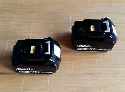 2X-Brand-New-Genuine-Makita-5-0Ah-18v-Li-Ion-Battery-BL1850-for-LXT-drill-saw