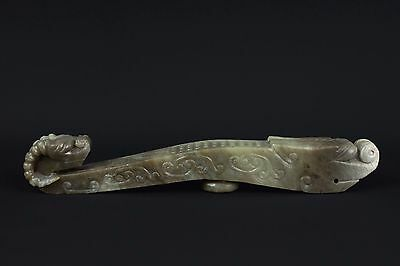 China 19./20. Jh. Zepter - A Chinese Carved Jade Ruyi Scepter - Chinois Cinese