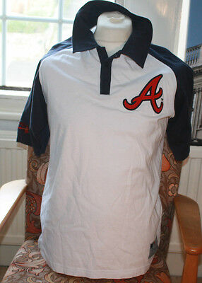 Bnwot True Vintage Atlanta Braves Polo Shirt Unworn Large Majestic Athletic