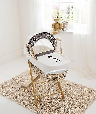 Brown Giraffe Palm Moses  Basket & Folding Stand