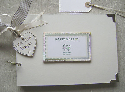 PERSONALISED A5 SIZE. sisters. PHOTO ALBUM/SCRAPBOOK/MEMORY BOOK CHRISTMAS OFFER