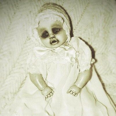"""GOTHIC BABY GHOST Haunted OOAK 20"""" Lissi VINYL CLOTH DOLL Zombie g2Taylor REBORN"""