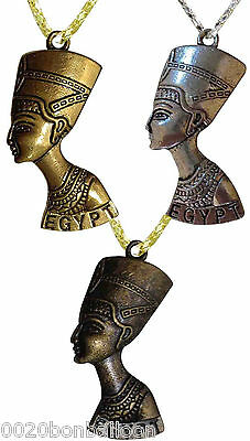 Egyptian Queen Nefertiti Necklace Pendant Ancient Pharaoh Egypt Jewelry 102