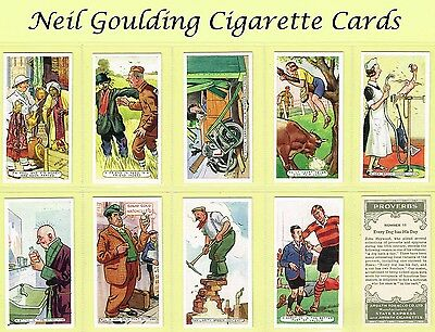 Ardath - Proverbs (1-25) 1936 #1 to #25 Cigarette Cards