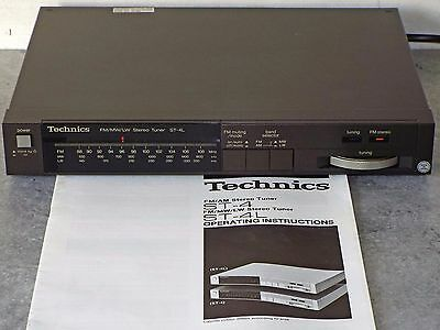 Technics ST-4L LW/MW/FM-Stereo Radio Tuner with original Operating Instructions