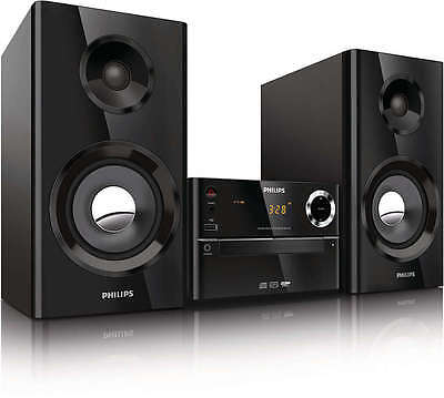 Philips Mcm2150/05 Micro Music System 70W Cd Aux In Usb Mp3 Remote Control Black