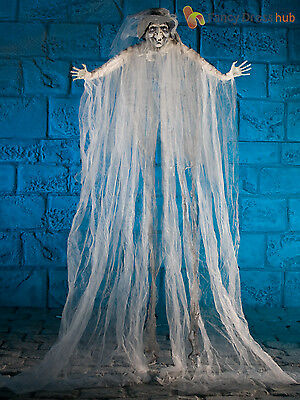 2M Large Hanging Scary Ghost Witch Curtain Halloween Party Prop Decoration