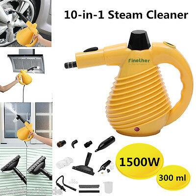 10-in-1 Electric Steam Cleaner Portable Hand Held Steamer Cleaning Multi Purpose