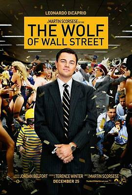The Wolf of Wall Street Movie POSTER 27 x 40 Leonardo DiCaprio, B, LICENSED NEW