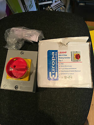 Europa Components Ip65 Rotary Isolator 20A 4P