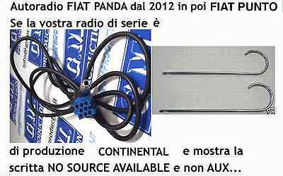 KIT cavo Aux femmina MP3 FIAT PANDA 2012 radio CONTINENTAL [NO SOURCE AVAILABLE]