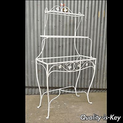 Vtg Salterini Mt Vernon Pattern Stand Bakers Rack Wrought Iron French Country
