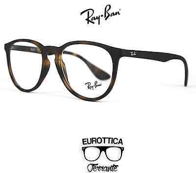 Occhiali Da Vista Uomo Donna Originali Ray Ban Marroni Rb7046 5365 Calibro 51