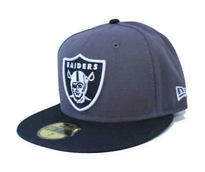 finest selection 4489d d9fb8 NFL Oakland Raiders New Era 59Fifty Cap Fitted Hat - Graphite Black