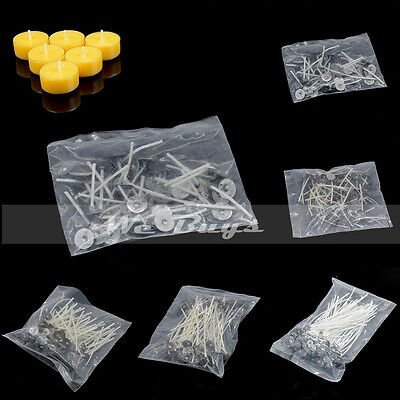 50 Pcs Candle Wicks Cotton Core Pre Waxed Sustainers DIY Candle Making Pick Size