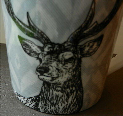 MUG QUEENS by Churchhill White Coffee Cup Deer Head with Large Antlers Buck Stag