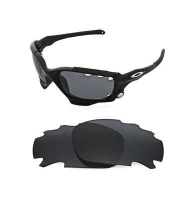 New Polarized Black Replacement Lens For Oakley Jawbone Racing Jacket Sunglasses