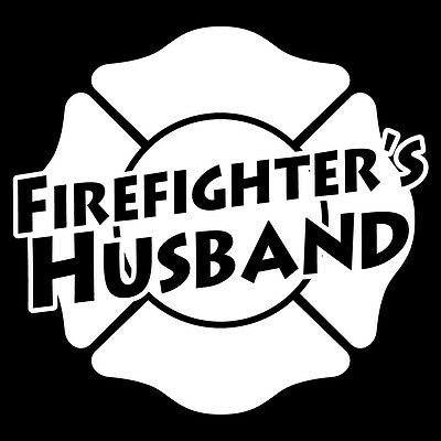 "Firefighter/'s Mom Small 3/"" White Non Reflective Maltese Cross Emergency Decal"