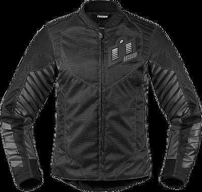 Icon Wireform Women's Textile Jacket Street Motorcycle Black M