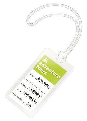 Swingline GBC UltraClear Thermal Laminating Pouches Luggage Tag Size with Loo...
