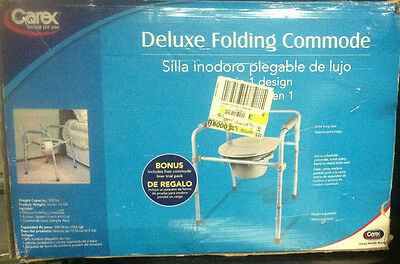 Carex Deluxe Folding Commode 3 IN 1