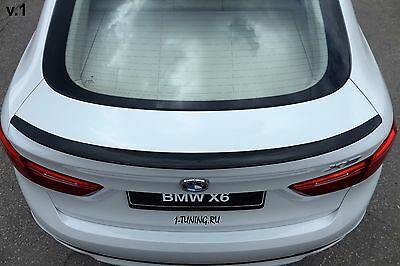 2014-2018 BMW X6 F16 X6M F86 Rear Wing Trunk Boot Lip Spoiler ABS Unpainted