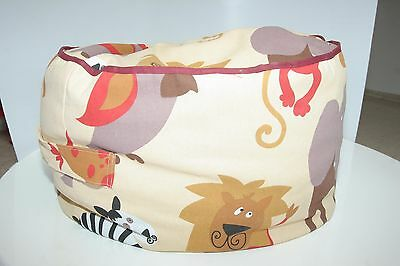 Sweet pouffe for babies with animal made by hade with canvas