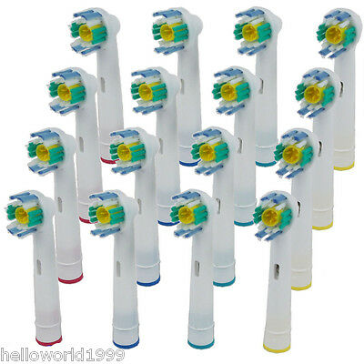 16 Pcs Electric Tooth brush Heads Replacement for Braun Oral B 3D WHITE ACTION