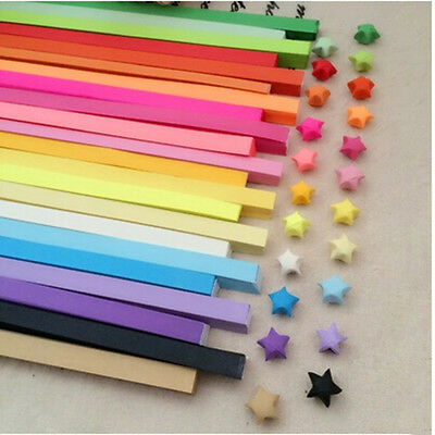 80pcs Funny Origami Lucky Star Paper Strips Folding Paper Ribbons Colors liau