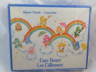 Vintage 1982 Parker CARE BEARS Jigsaw PUZZLE COMPLETE! Rainbows 60 PIECES