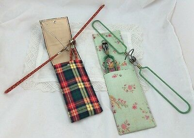 Vintage BRITISH Made FOLDING Travel CLOTHES HANGERS in CASES
