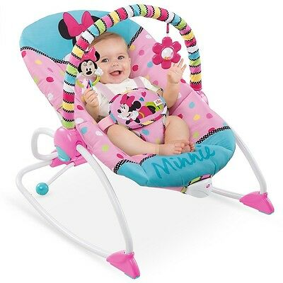 Newborn Baby Swing Seat Infant Toddler Rocker Comfort Toys Chair Minnie Portable