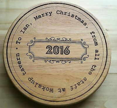 Personalised Cheese cutting wooden board set, Birthday Christmas Family Gift