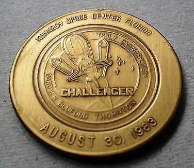 CHALLENGER SERIES NASA 38mm MEDAL/COIN ANTIQUE BRONZE FINISH AUGUST 30, 1983