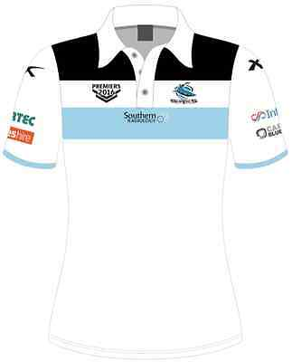 Cronulla Sharks 2016 Premiers Polo Shirt Mens & Womens Sizes Just Arrived!!