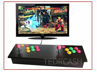 Wood double stick arcade console - 2000+ video games - 2 players HDMI -ships DHL