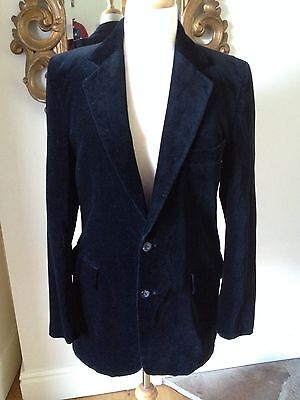 Excellent Mens Vintage Black Velvet Evening Jacket/Blazer 36 Long