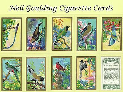 Cavanders - Feathered Friends [Birds] 1926 #1 to #25 Cigarette Cards
