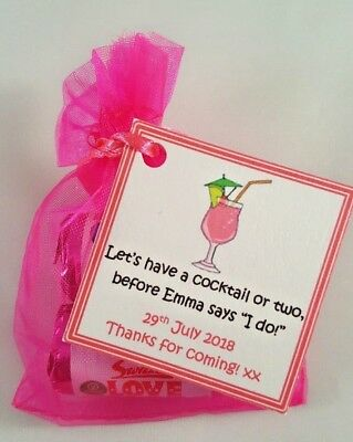 Personalised Hen Do Favours, Hen Party, Hen Night - Sweet Bags Love Hearts Gifts